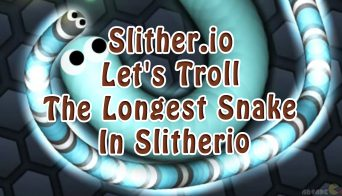 Slither.io Let's Troll The Longest Snake In Slitherio